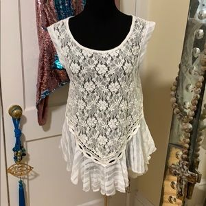 NWT Free People Ivory Top